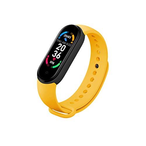 Reloj inteligente M6, IP67, resistente al agua, con pantalla HD de 0.96 pulgadas, contador de calorías, podómetro, pulsera deportiva Bluetooth para niños y adultos