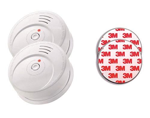 Jeising GS506 G 2er Set Rauchmelder KRIWAN zertifiziert EN14604 mit 10 Jahres Batterie inkl. 2 x Magnetbefestigung 3M Premium selbstklebend