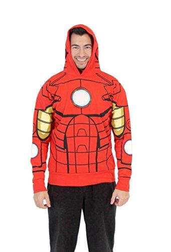 Preisvergleich Produktbild I Am Iron Man LED Light Up Sweatshirt Hoodie (Adult L)