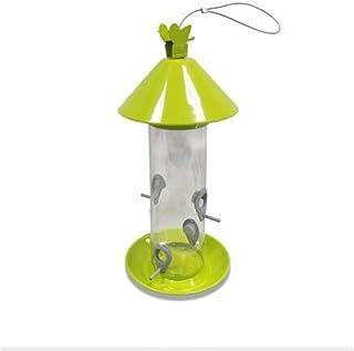 GAO-bo Alimentador de Semillas de Aves Silvestres Colgantes, Hay 4 Orificios de Fuga de Alimentos, la Estructura KD se Pue...