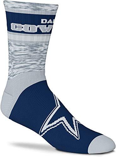 For Bare Feet Dallas Cowboys Double Deuce Gray Knit Socks (Large 10-13)