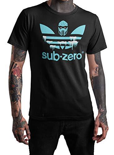Sub Zero Mortal Kombat Sport Mash Up Gaming T-Shirt (L) Bl