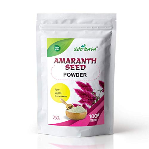 Amaranth Seed Powder Flour Gluten-Free 250g | ECO NAVA Brand | Add to Cereals, Cocktails, Smoothies, Salads, Sauces, Pies, Bread, Loaves, Rolls, Muffins, Gingerbread, Cakes and other Baking recipes.