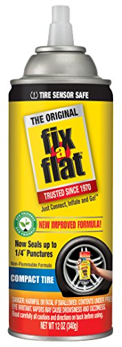 Fix-A-Flat S60410 Aerosol Tire Inflator with Eco-Friendly Formula, 12 oz. Cone Top