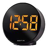 Acctim 15853 Circulo Black USB despertador con suministro de corriente