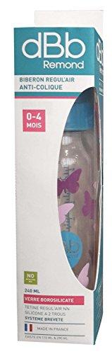 dBb Remond Vlinders Fles in Doos, 8 oz, Turkoois