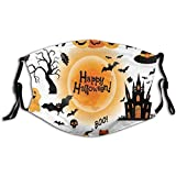 Halloween Face_Masks for Adults Dust Washable Reusable Halloween Face Bandanas Indoor and Outdoor Activities (Halloween#29)