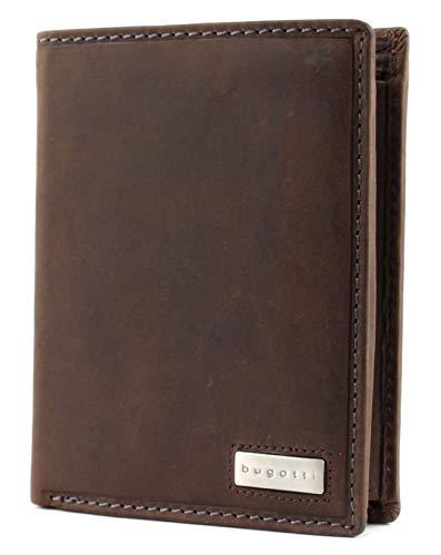 bugatti Hunter RFID Coin Wallet Combi Style 13CC Metal Logo Brown