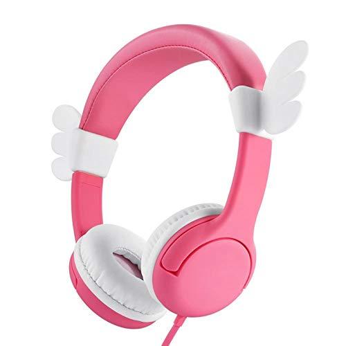 xiaoxioaguo Kinder Musik Kopfhörer für Smartphones und 80-85dB Kindersicherung Lautstärke Kopfhörer