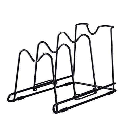 Estante de almacenamiento de cocina Utensilios de cocina Olla Tapa Libre de perforación de múltiples funciones de corte ajustable Junta Tabla de cortar rack de almacenamiento en rack rack de hierro Es