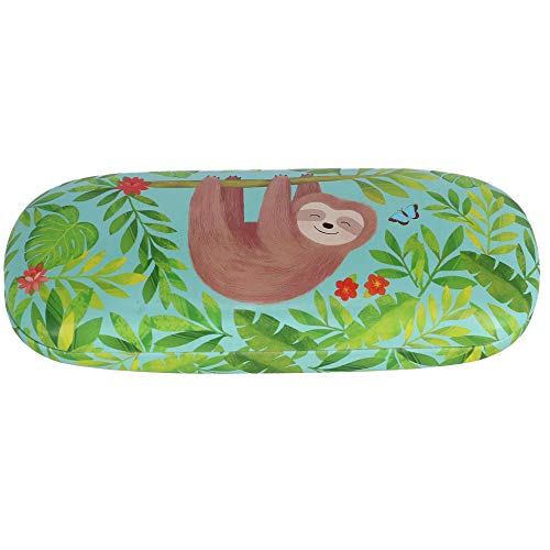 Botanical Sloth and Friends Reading Sunglasses Spectacles Hard Case Cover Holder