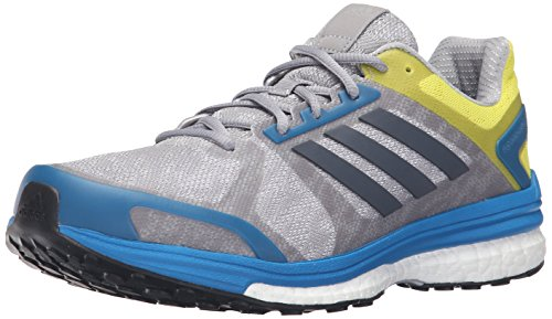 adidas Men's Supernova Sequence 9 M Running Shoe, Mid Grey Utility Unity Blue Fabric, 11.5 M US