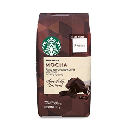 STARBUCKS GROUND MOCHA FLAVORED COFFEE 11 oz. (1 Pack)