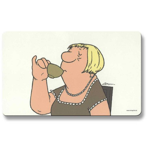 Loriot Frühstücksbrettchen 23 x 14 cm • 68060 ''Frau'' • Dies & Das • Küche & Frühstück • Frühstücksbrettchen • Brettchen