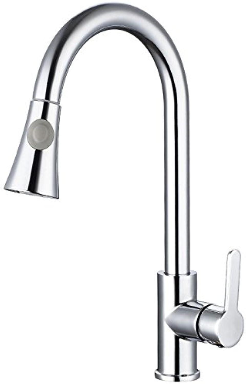 YAWEDA Alle Kupfer Hauptküchenarmatur, heie und kalte Waschbecken, Spüle, Pull Tap, Zeichnen Basin Head.