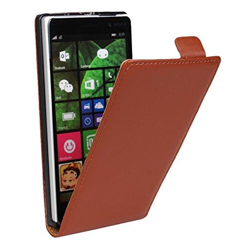 Eximmobile Flipcase Handytasche Etui Tasche für Microsoft Lumia 930 Braun
