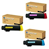 Toner Tap for Xerox Phaser 6510 WorkCentre 6515 Compatible with 106R03477 106R03478 106R03479 (High Yield, 3-Pack Bundle)