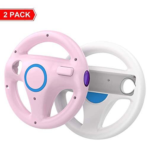 DOYO 2 Stücke Wii Lenkrad wii controller für Nintendo Switch,Lenkrad Racing Wheel für Mario Kart,Panzer,mehr Wii oder Wii Lenkspiele,Kunststoff Spiel Fernbedienung Spielzubehör