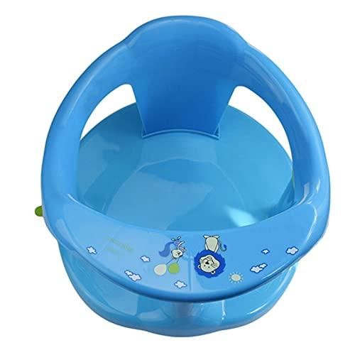 Silla de baño para niños Asiento de bañera para bebé Atención para bebés antideslizantes para bebé Asiento de baño para niños. Asiento portátil para baby shower ( Color : Azul , Size : 32x32x24cm )