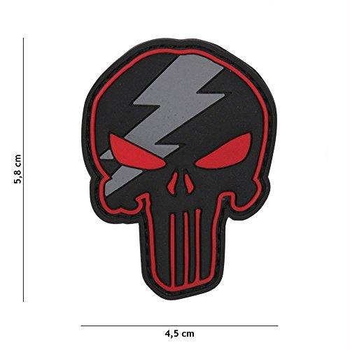 Van Os Emblem 3D PVC Punisher Thunder rot #12056