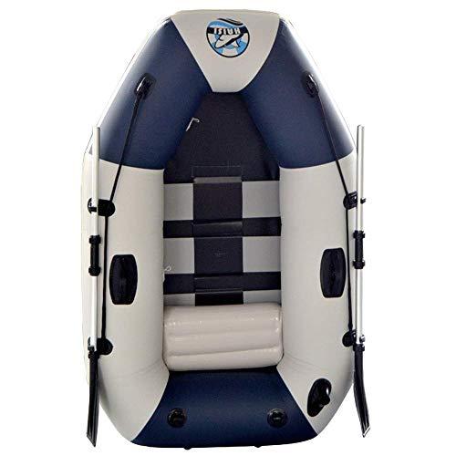 GUOE-YKGM Kayak Schlauchboot Faltkajak Outdoor Beiboot Komfortable Kajak Freizeit Faltboot 1 Person Schlauchboot Marine Sport Angeln Abenteuer Dicke PVC Kunststoff 175 * 115 * 31 cm Blau