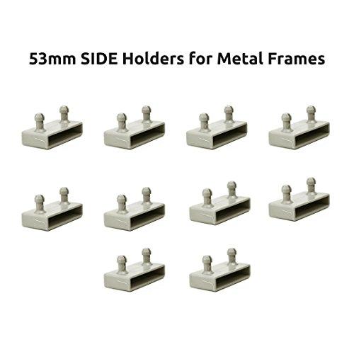 53mm lateral Marcos de metal tapas de soportes para listones de cama–2Puntas (Pack de 10)
