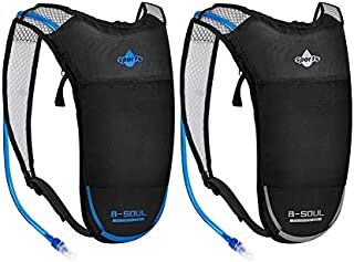 ACVCY Hydration Backpack with 2L Water Bladder, Backpack Reservoirs Water Bladder with Adjustable Straps Daypack for Running, Hiking, Biking, Festivals, Raves (2 Pack)