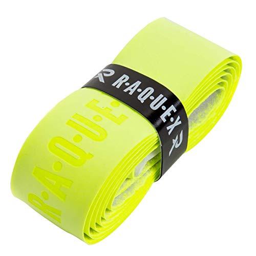 Raquex Ersatz-Griffband, aus Polyurethan, Schlägergriffband für Tennis, Squash oder Badminton (Gelb, 1 Griffband)