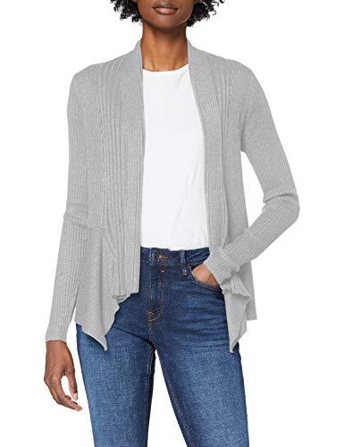 ESPRIT Damen 998EE1I803 Strickjacke, 044/LIGHT Grey 5, L