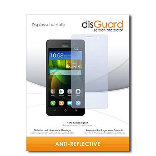 disGuard Protector de Pantalla [Anti-Reflex] compatibile con Huawei G Play Mini [3 Piezas] Antirreflectante, Mate, Antirreflejante, Anti-Arañazos, Anti-Huella Dactilar - Película Protectora