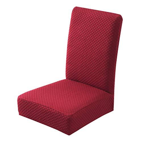 Javntouy Funda para silla de comedor, súper ajuste, elástica, extraíble, lavable, para cocina, hotel, lavable