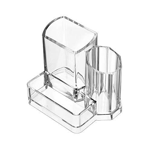 NIBABA Caja de Almacenamiento Transparente Caja de Almacenamiento de Cristal de Maquillaje Caja de lápiz Labial Caja de Labios Accesorios de Almacenamiento de Joyas (Color : Clear, Size : One Size)