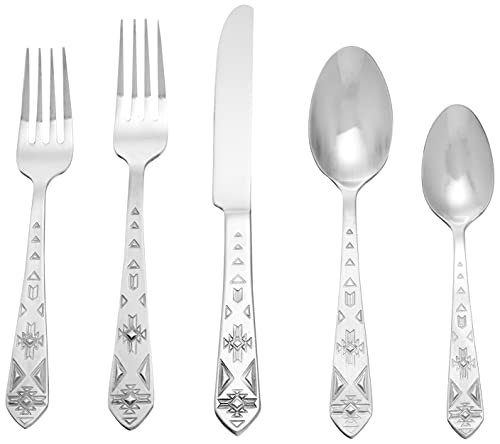 Towle Everyday Pueblo 20-Piece Stainless Steel Flatware Set, Service for 4