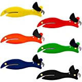 Fish 200 Original Enclosed Blade Safety Box Cutter Set of 6 - One Of Each Colour