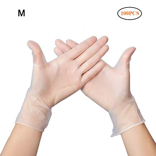 JTYR Nitrile Disposable Gloves 100 Pcs Powder Free Rubber Latex Free Medical Exam Gloves Non Sterile Ambidextrous Comfortable Industrial Blue Rubber Gloves L
