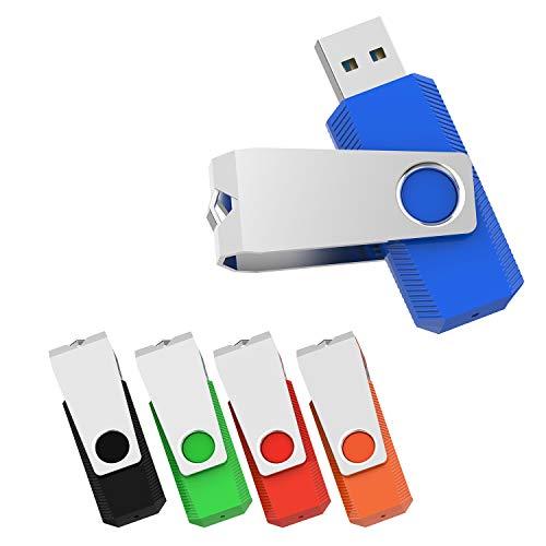Vansuny 16GB Chiavette USB 3.0, 5 Pezzi PenDrive 16 GB 3.0 Rotazione a 360°, USB Memoria Externo ad Velocità di Lettura Fino a 60 MB/s, USB Pennette Unità Flash per PC, Laptop, Autoradio, TV