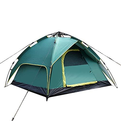 WZP-Tente, Tente familiale pour 3 à 4 Personnes, Tente de Camping, 100% étanche, Facile à Installer pour la Plage, en Plein air, Les Voyages, la randonnée, Le Camping, la Chasse, la pêche, etc,Vert