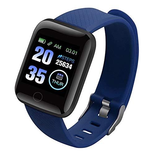 CXSD Pulsera inteligente de medición impermeable, monitor de fitness, podómetro, pulsera inteligente para mujeres y hombres (color: azul)