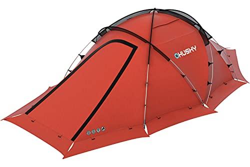 世界の冒険家に認められた高機能テント Fighter 3人用 ドーム型 テント 2人用 1人用 アウトドア用品 キャンプ用品 軽量 防水 紫外線防止 通気性 登山 災害用 防災用 (レッド)