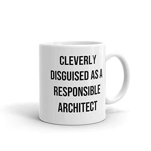 YHJUI Disfrazado hbilmente como arquitecto responsable taza de caf