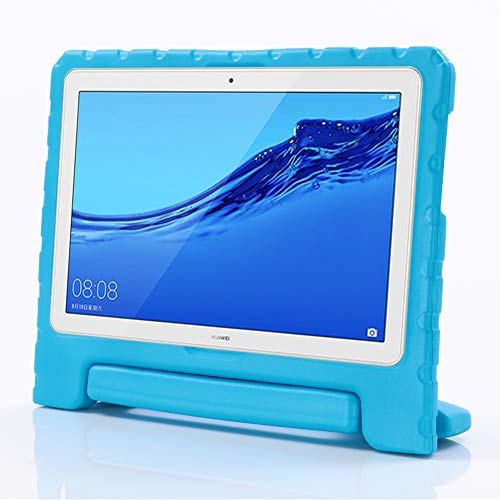 i-original Compatible with Huawei MediaPad M5 Lite 10 Kids Case,Shock Proof Kids Bumper Cover Handle Stand Huawei MediaPad M5 Lite 10.1-In 2018,Convertible Handle Lightweight Protective Cover(Blue)