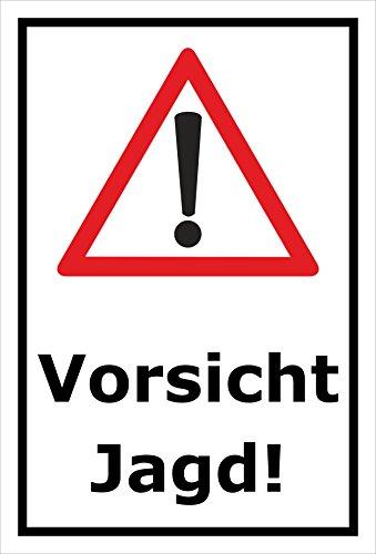 Melis Folienwerkstatt Schild Vorsicht Jagd - 45x30cm – Bohrlöcher - 3mm Aluverbund – 20 VAR S00351-005-A
