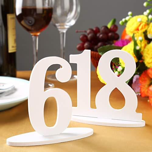 1-20 Números de Mesa de Madera con Base de Soporte, NúMeros de Mesa Restaurante Boda Partido La Decoración