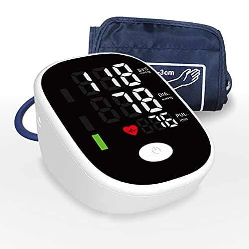 SXTYMV TensióMetro de Brazo Monitor de PresióN Arterial ElectróNico Totalmente AutomáTico Pantalla Grande TransmisióN de Voz en El Hogar EsfigmomanóMetro del Brazo Superior