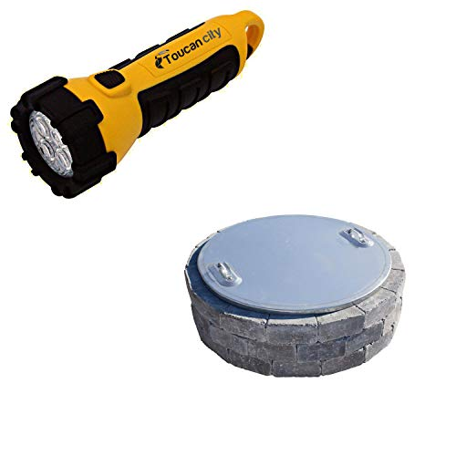Toucan City LED Flashlight and Necessories 37 in. Fire Pit Cover IAC-30