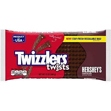 Twizzlers Twists Hershey's - Caramelo de regaliz de chocolate (paquete de 2)