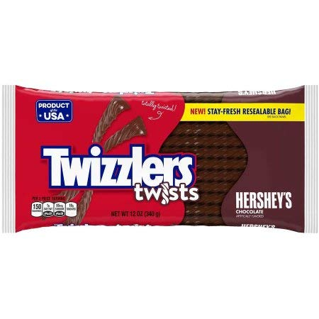 Twizzlers Twists Hershey's Chocolate Licorice Candy (Pack of 2)