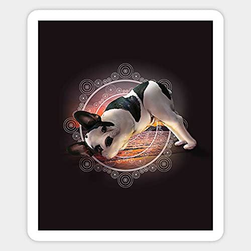 Namaste French Bulldog Dog Yoga Stickers, Vinyl Sticker,Funny Sticker, Gift Sticker
