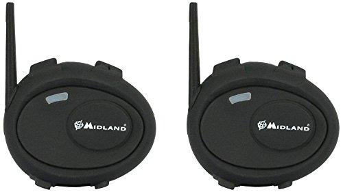 Midland C929.01 BT City Twin Bluetooth Headset für Motorradhelme, Doppelset
