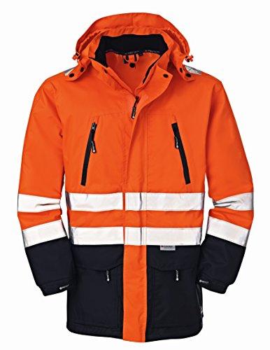 4Protect 20-003400-XL 4 Protect Warnschutzjacke DETROIT 3400 Wetterschutz Regenjacke XL, orange/marine